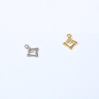 Mayrose-Bra Charms 7247 Zinc Alloy With Crystal | Charms | Mayrose Fastener