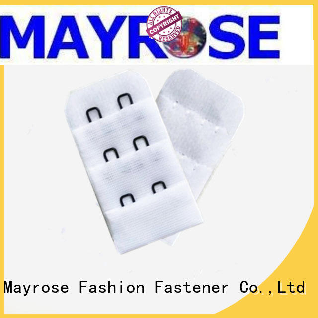 Mayrose stainless steel bra strap hooks with silver costume