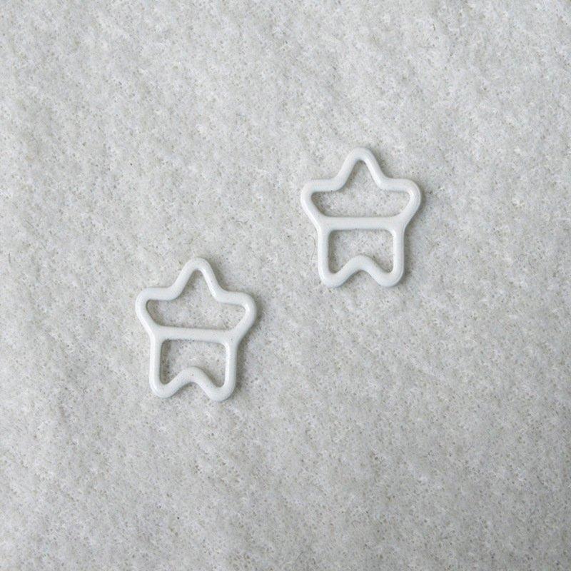 Mayrose-Best Nylon Coated Adjuster Star Shape N49 Bra Strap Slides And Rings