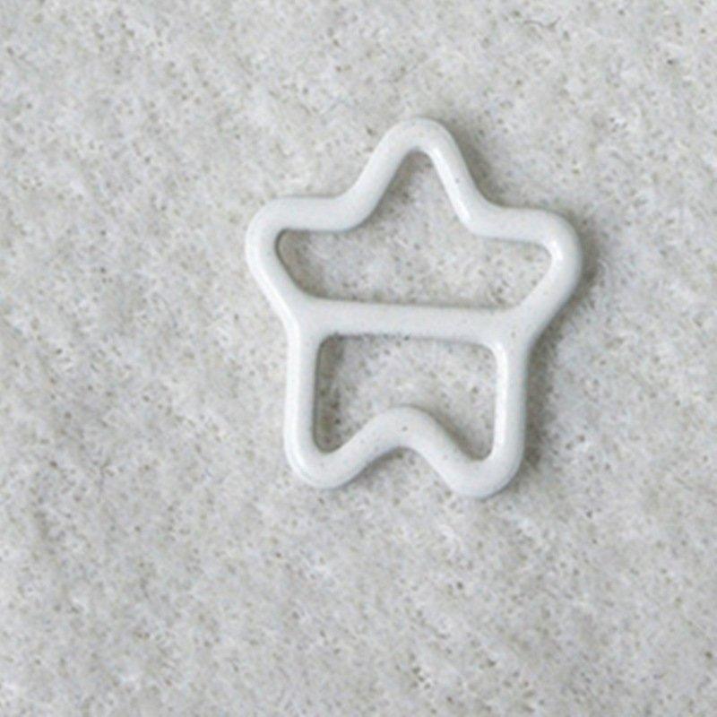Mayrose-Best Nylon Coated Adjuster Star Shape N49 Bra Strap Slides And Rings-1