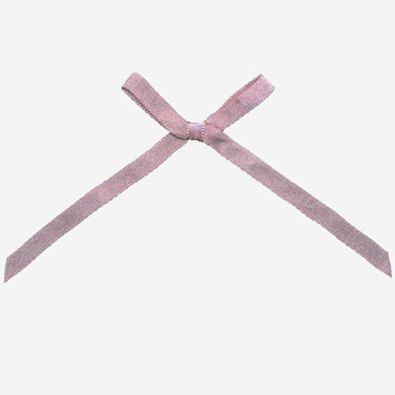 Hot wire ribbon bow nylon bra with bow rhinestone Mayrose