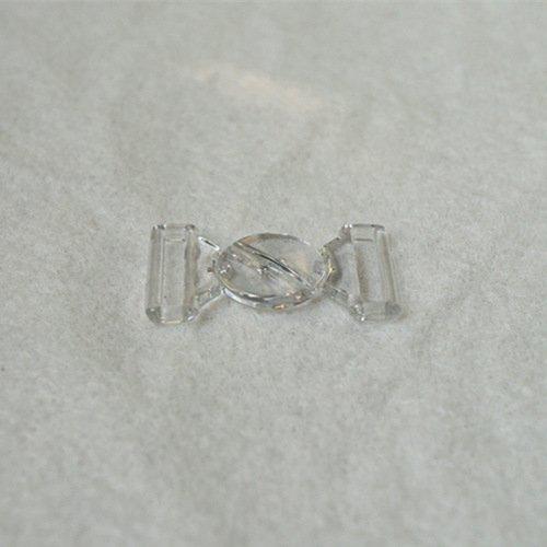 Mayrose-Plastic Front closure Buckle clear Clasps L16f33 | Bra Hook To Mak
