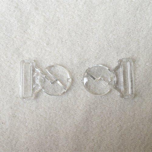 Mayrose-Plastic Front closure Buckle clear Clasps L16f33 | Bra Hook To Mak-1