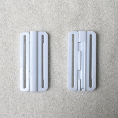 Mayrose-Plastic Front closure Buckle clear Clasps L37F21 | Bra Hook To Mak-2