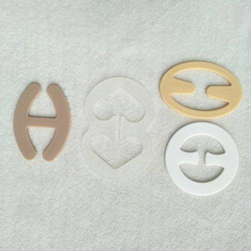 Mayrose-Plastic bra strap clips oval shape-3