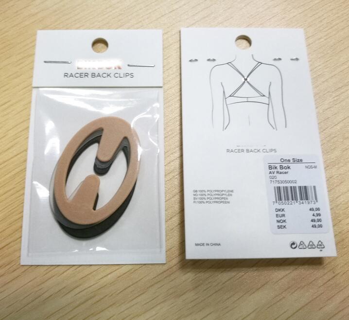 Mayrose-Plastic bra strap clips oval shape-5