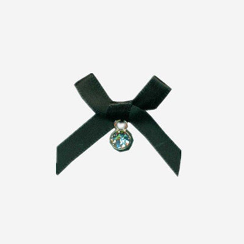 Mayrose-Nylon Ribbon Bow #32 With Rhinestone Diamond | Bow | Mayrose Fastener-1