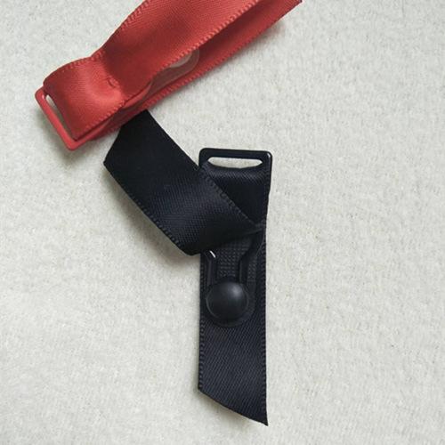 Mayrose-Nylon Coated Adjuster garter with satin | Metal Slide Adjuster-3