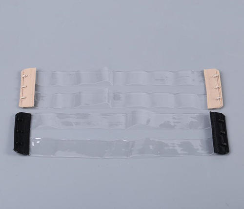 hook tape with transparent bra strap