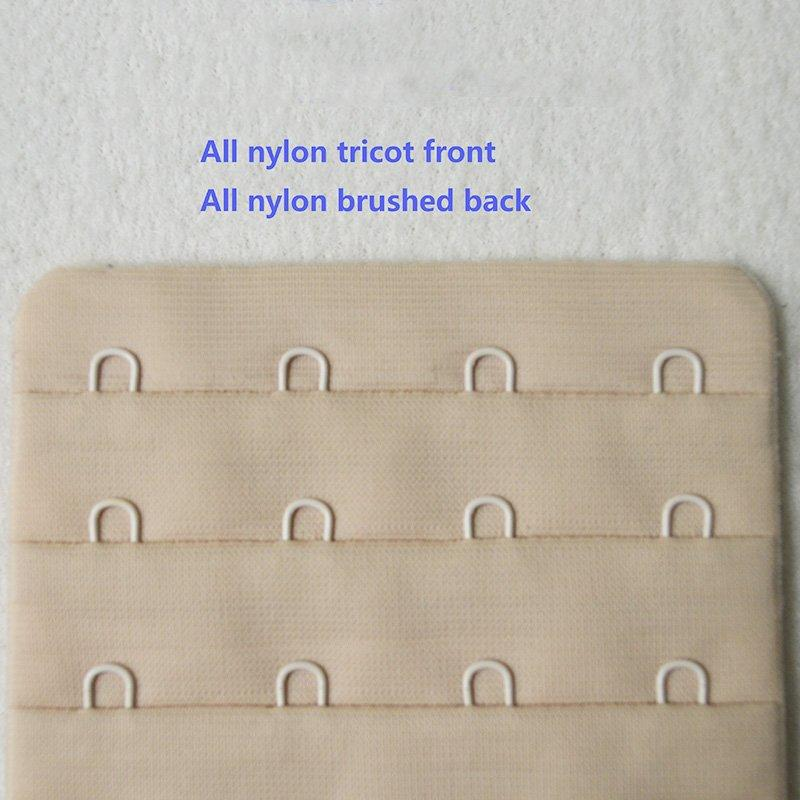 4x4/76mm all tricot front brushed back hook and eye