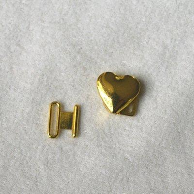 Zinc alloy adjuster buckle heart shape JT1580