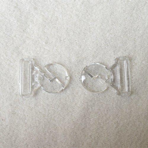 Mayrose-Plastic Clear Clasps L16f33 | Bucklefront Closureclaspsgartersuspender-1