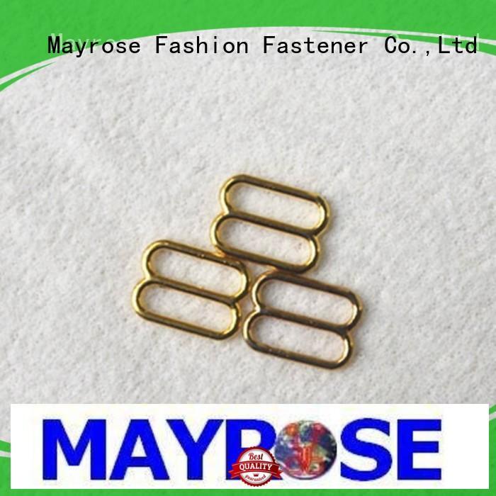 Mayrose gold metal triglide slides for bra evening dress