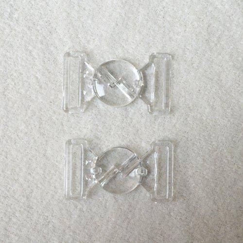 Mayrose-Plastic Clear Clasps L16f33 | Bucklefront Closureclaspsgartersuspender-2