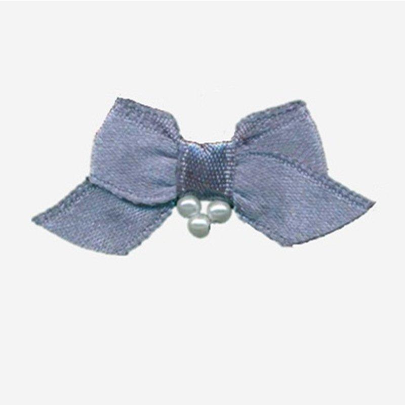 Mayrose-Nylon Ribbon Bow #07 With Pearl | Tiny Ribbon Bows | Bow-1