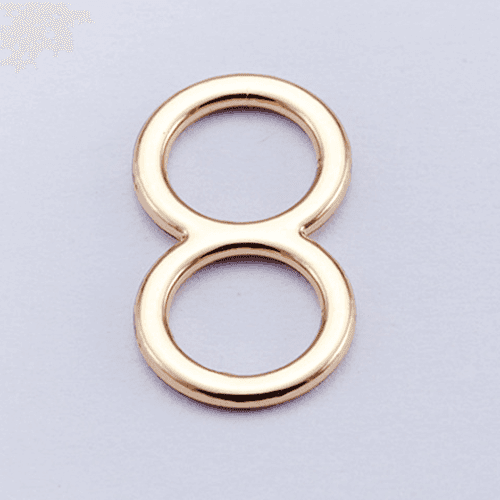 Mayrose-Zinc Alloy Adjuster Slide 006-2 Rose Gold Plating - Mayrose Fastener-1