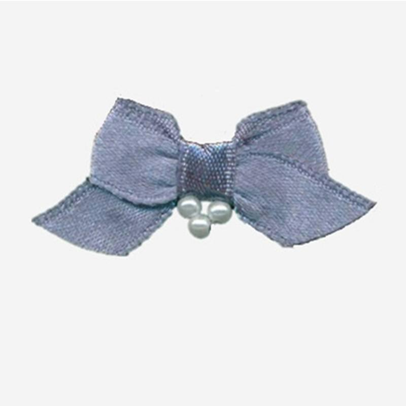 nylon ribbon bow #07 with pearl
