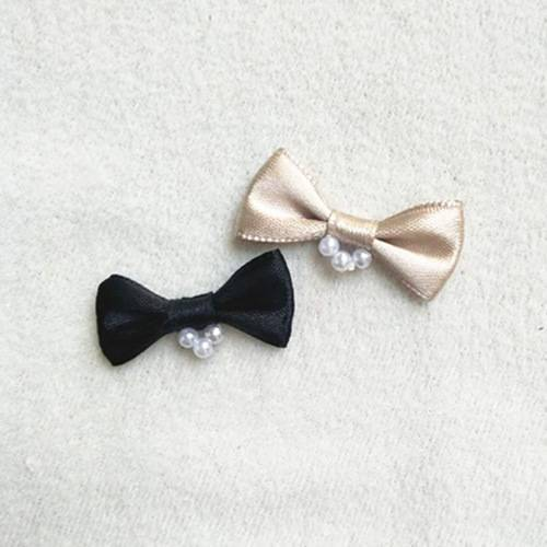 nylon ribbon bow #53638 with pearl
