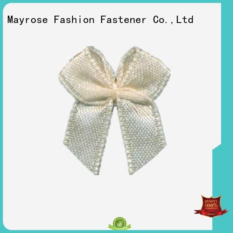 Mayrose polyester ribbon bra with bow diamond nylon