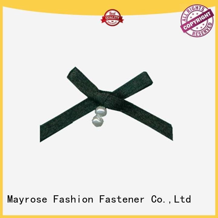 OEM wire ribbon bow pearls chiffon nylon bra with bow