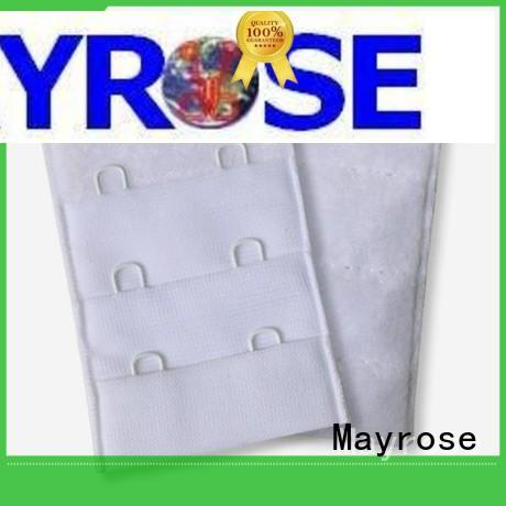 Mayrose reinforce bra strap hooks with silver garment