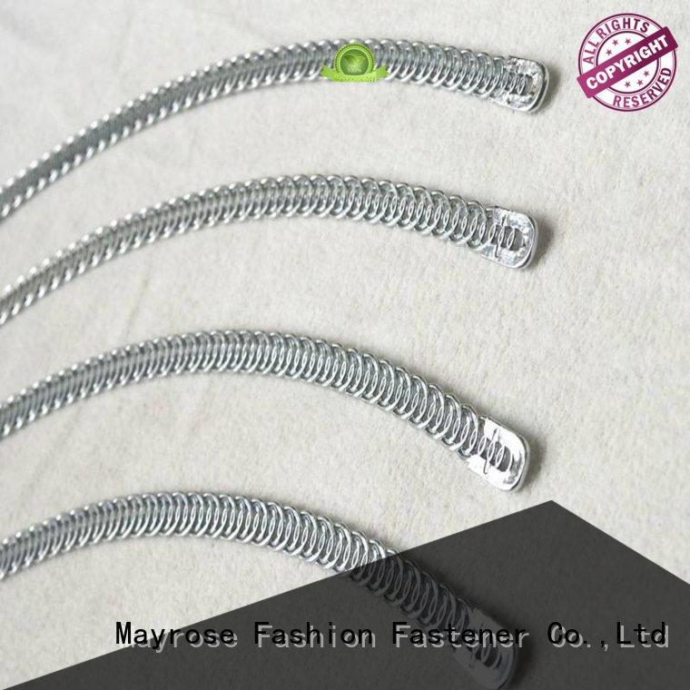 bone shape plastic spiral steel boning Mayrose Brand